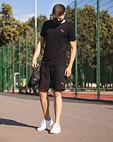 Футболка Рита черная + Шорты Рита черные 0137-0139