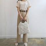 Сумка авоська плетенная Diana (Белый), фото 2