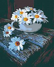 Картина за номерами натюрморт ромашки 40х50 Ромашковий Чай