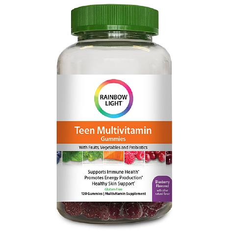 Мультивитамины Для Подростков, Teen Multivitamin, Rainbow Light, 100 жевательных таблеток, фото 2