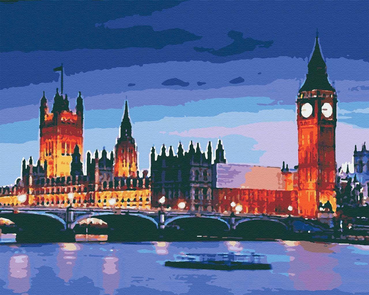 Картина по номерам города 40х50 Лондон