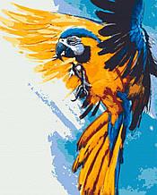 Картина за номерами птахи 40х50 Летючий Вогонь