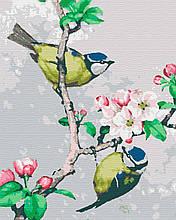 Картина за номерами птахи 40х50 На Яблуні