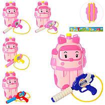 Дитячий водяний пістолет - водний автомат з балоном рюкзаком на плечі для дівчинки із зображенням Ембер