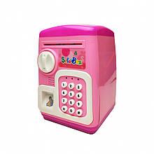 Дитяча Скарбничка MK 4629 Сейф з кодом 19х24х15 см (Рожевий)