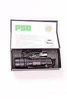 Тактический светодиодный фонарь Bailong BL603 на батарейках, ручной, черный, пластик, металл, фонарь, фонарь