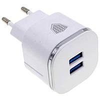 Сетевое зарядное устройство Inkax CD-20-M-V8 2USB порта, 2,1А, кабель USB-microUSB, СЗУ, зарядное устройство