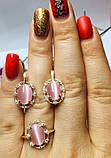 Комплект в серебре с камнем улексит Ксения, фото 3