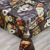 Клеенка кухонная ПВХ в рулоне Premium на нетканной осНовое, уплотненная, 1.37х25м, клеенка на стол, клеенка в