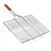 Решітка - гриль плоска MH-0161, велика, 70*45*36 см, решітка для барбекю, барбекю, решітки для гриля і