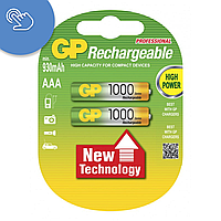 Акумулятор GP 1000 AAA, акумуляторні батареї ааа, акумуляторні батарейки ааа gp, акумулятори gp 1000 mah, фото 1