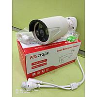 Гібридна відеокамера Fosvision FS-623N-20 біла, 1080, 2.0 MP, метал, 12V, 2A, 3.6 mm, відеоспостереження
