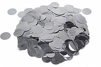 """(Ціна за 1 шт.) Конфетті """"срібло"""" (Ø2,5см), фото 1"""