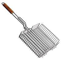 """Решітка - гриль """"Stenson"""" MH-0140 середня, 34х31х7 см, решітка для барбекю, барбекю, решітки для гриля і"""