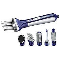 Фен для сушки волос Gemei GM 4834 6в1 2 скорости обдува, 3 режима, 550W, пластик, от сети, фен Gemei GM 4834, фото 1