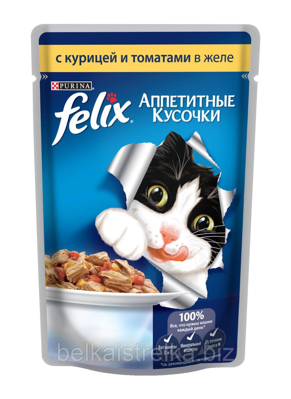 Пауч для кошек Felix, 85 г, курица с томатами 12114152