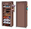 Складной шкаф для обуви 9 полок. Тканевый стеллаж для хранения обуви