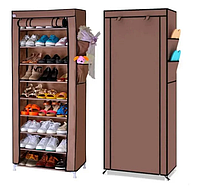 Складной шкаф для обуви 9 полок. Тканевый стеллаж для хранения обуви, фото 1