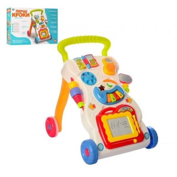Дитячі ходунки каталка для малюків 0801 на батарейках