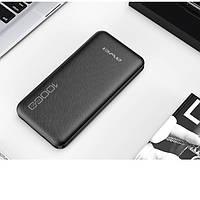 Зовнішній акумулятор power bank AWEI P28K чорний, пластик, 10000мАч, Li-Ion, USBx2, Power bank, зовнішній, фото 1
