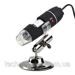 USB микроскоп цифровой Ootdty DM-1600 (0x-1600x) с LED подсветкой Черный (100094)