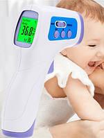 Безконтактний інфрачервоний термометр Non Contact від батарейок, LCD дисплей, °C/°F, Термометр, Безконтактний термометр