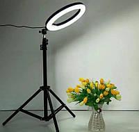Профессиональная кольцевая лампа LED LS-360 светодиодная, со штативом, 35см, ABS-пластик, кольцевые лампы, кольцо для селфи