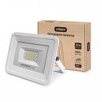 Прожектор світлодіодний Videx VL-Fe205W білий, 20W, 5000K, 220V, 120°, прожектора Videx, вуличний світильник,
