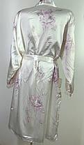 Жіночий атласний халат  Розмір 40-42 ( Н-13), фото 2