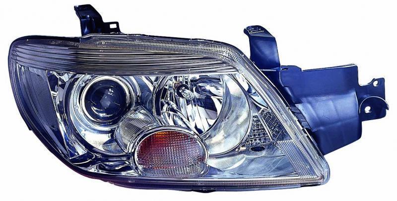 Фара Mitsubishi Outlander 05 - права хром. рамка мех.рег. Depo 8301A174