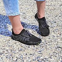 Чорні аквашузи чоловічі і жіночі коралки аквавзуття шльопанці для моря аква взуття сліпони мокасини на море пляж