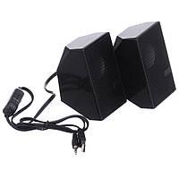 Комп'ютерні колонки Speaker D18 stereo jack 3,5 мм, 75 dB, USB, Колонки на комп'ютер