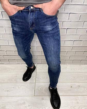 Джинсы мужские New Boy Деним Стильные Молодежные Модные джинсы с потертостями для мужчин, фото 2