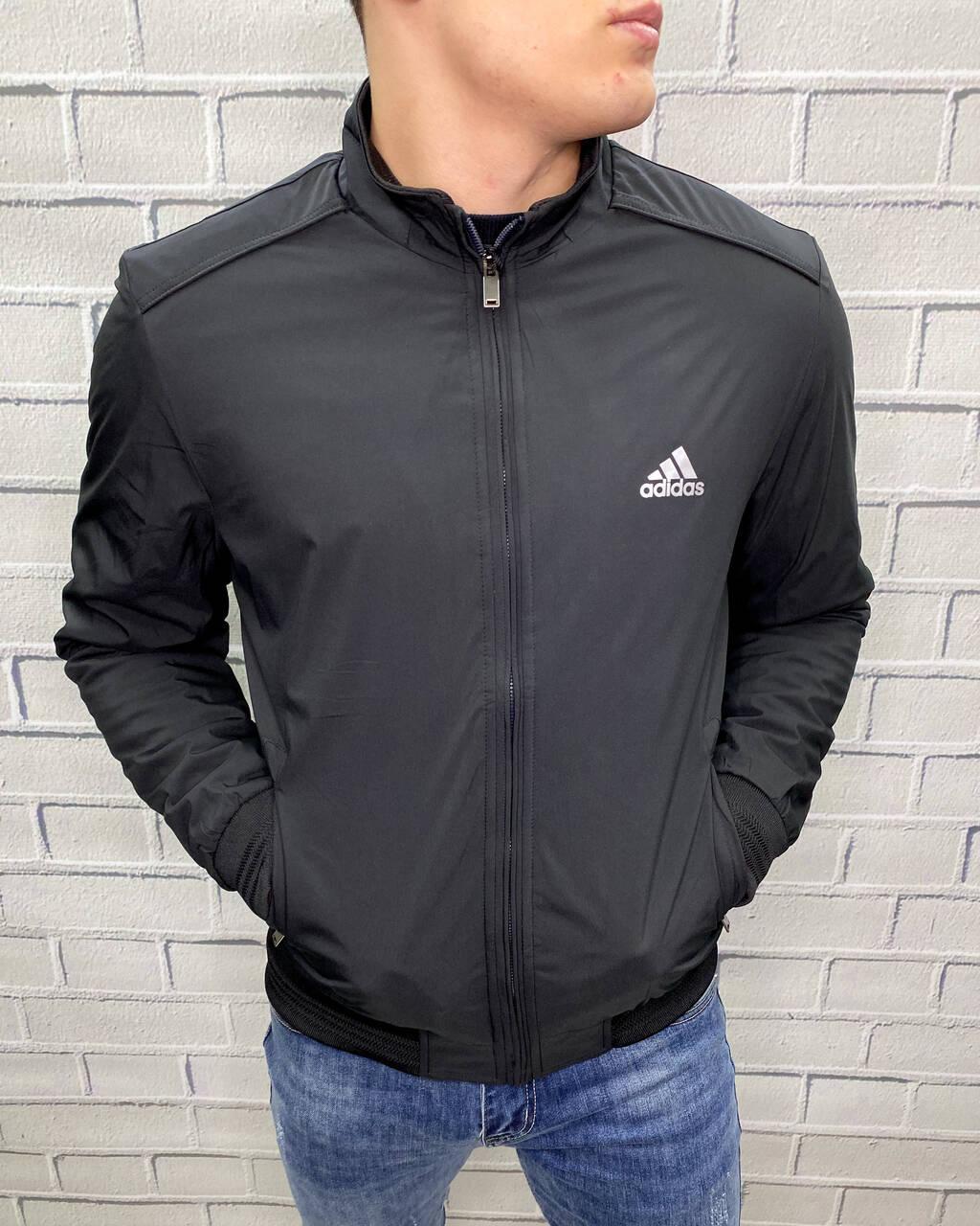 Куртка тонкая Adidas Черный Ветровка Мужская Одежда M