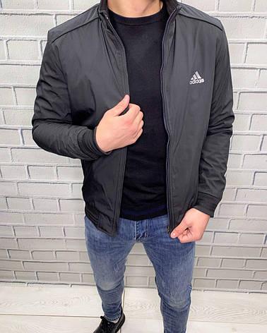 Куртка тонкая Adidas Черный Ветровка Мужская Одежда M, фото 2