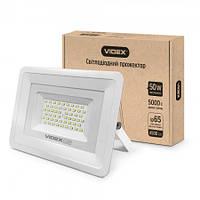 Прожектор світлодіодний Videx VL-Fe505W білий, 50W, 5000K, 220V, 90Lm, прожектора Videx, вуличний світильник, прожектор, світильники