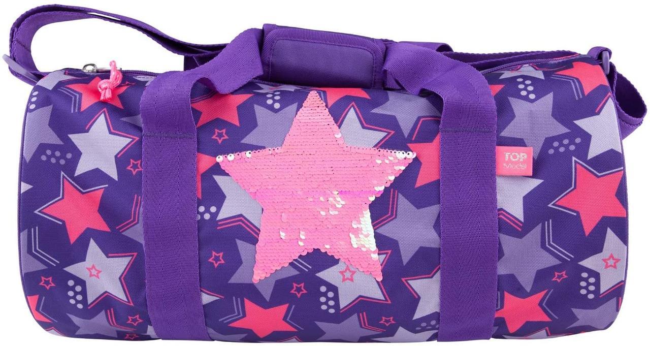 Сумка TOP Model спортивна фіолетова з паєтками дитяча спортивна для дівчаток ТОП Модел Depesche 10676