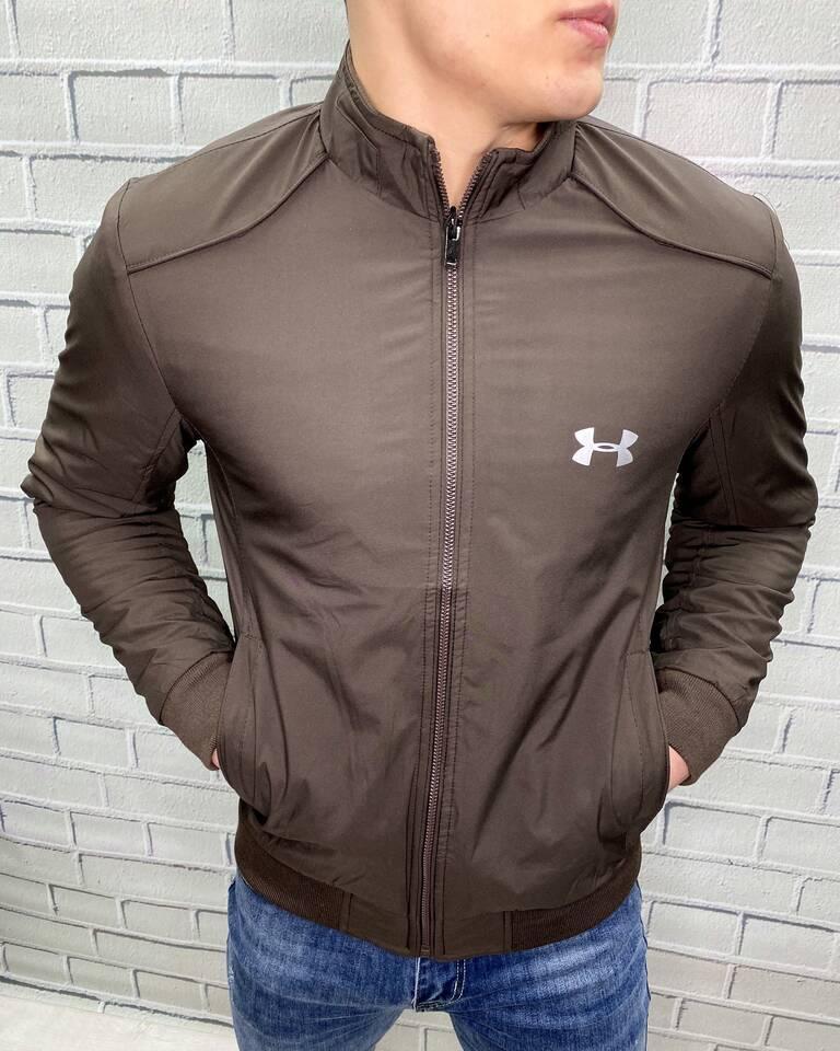 Ветровка мужская Under Armour Шоколадный Демисезонная Спортивная Кэжуал С манжетами Ткань SoftShell для мужчин