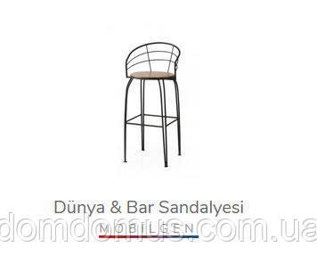 Барный стул DUNYA bar san. (металл, сидушка декор/фанера)