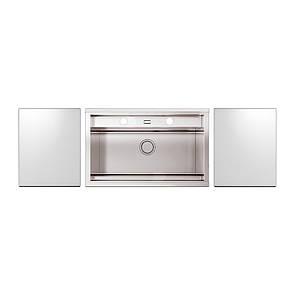 Набір Apell мийка кухонна Regola Polish RE791IKITW + змішувач Telescopic APF1260CR