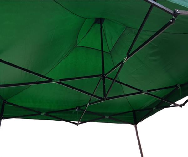 Шатер раздвижной усиленный 3 х 3 м зеленый (1274725877), компактный и удобный садовый павильон палатка, фото 5
