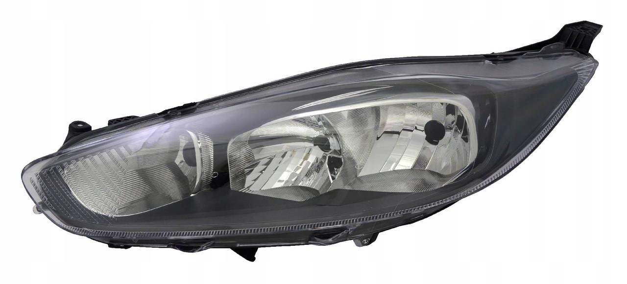 Фара Ford Fiesta '13-17 ліва ел.рег. чорна рамка DEPO 1789946