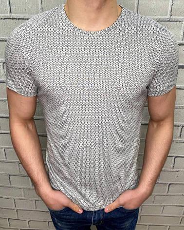 Мужская футболка на лето Williams Scott Серая Турецкое качество Идеальная посадка Мужские футболки и майки XXL, фото 2