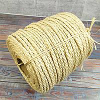 6 мм - 100 м Сизалева мотузка для когтеточки Канат сизалеві світлий