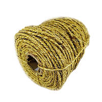 14 мм - 50 м Сизалева мотузка для когтеточки Канат сизалеві золотистий