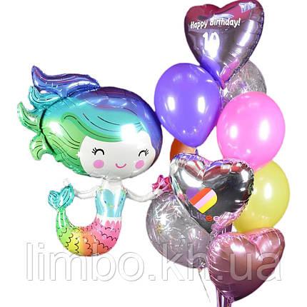 Повітряні кулі на день народження з фольгированной фігурою Русалкою, фото 2
