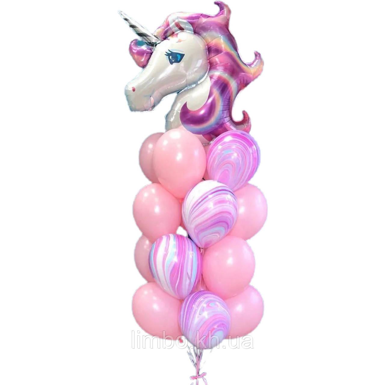 Шарики на день рождения девочке с фигурой  Единорог