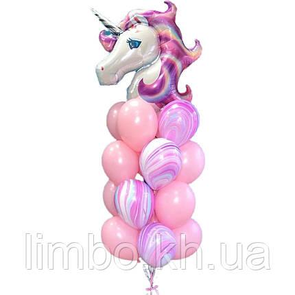 Шарики на день рождения девочке с фигурой  Единорог, фото 2