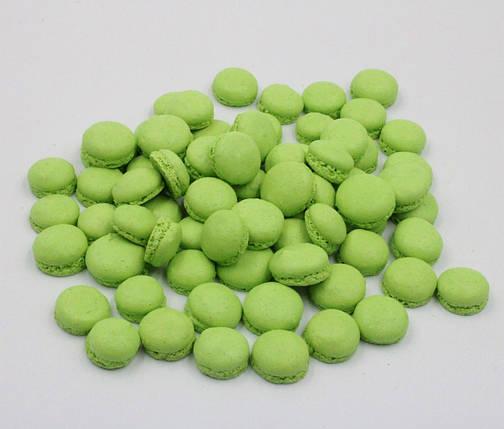 Макаронс напівфабрикат крапля половинки зелене, фото 2