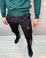 Штаны спортивные Nike Зеленый Штаны Спортивная одежда для мужчин Найк зауженные книзу Стильные Демисезон